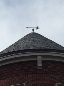 Modified Bronze Finial with Spider Windvane-University of Richmond