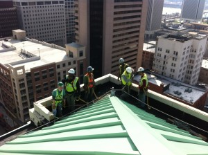 Crew shot at The Hotel John Marshall Project-Richmond, VA Nice views up there!