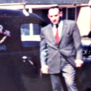 Company Founder Joseph J. Loehr, Jr. with his first truck circa 1947