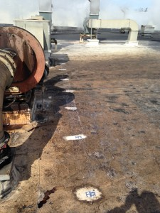 Aluminum Adhesive Conductor Fasteners on a VERY Dirty EPDM Roof!