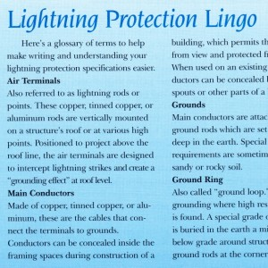 Lightning Protection Lingo